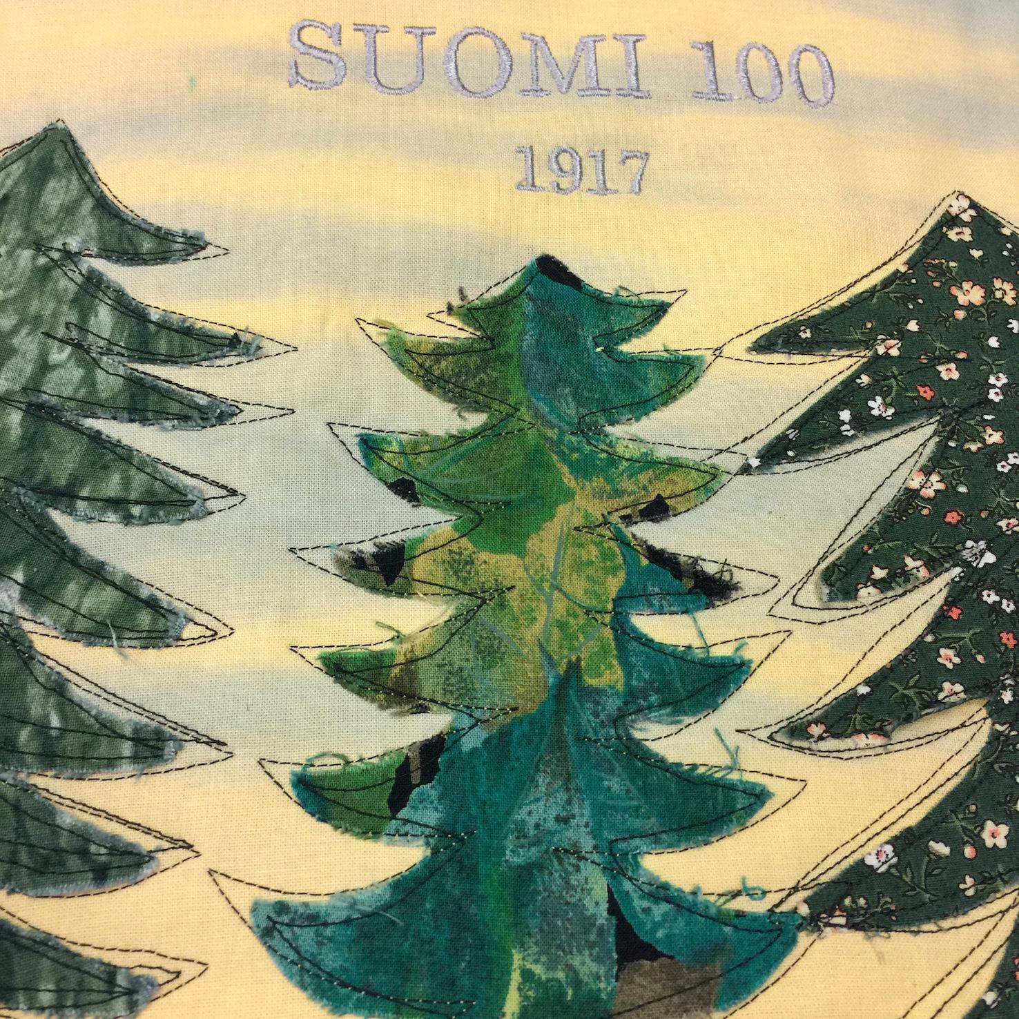 Suomi 100 vuotta -tilkkutyönäyttely